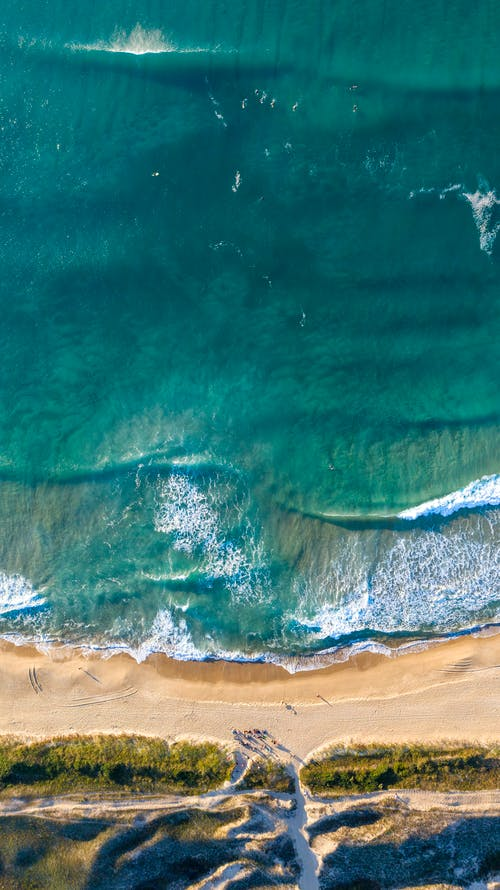Aerial View of Ocean Waves
