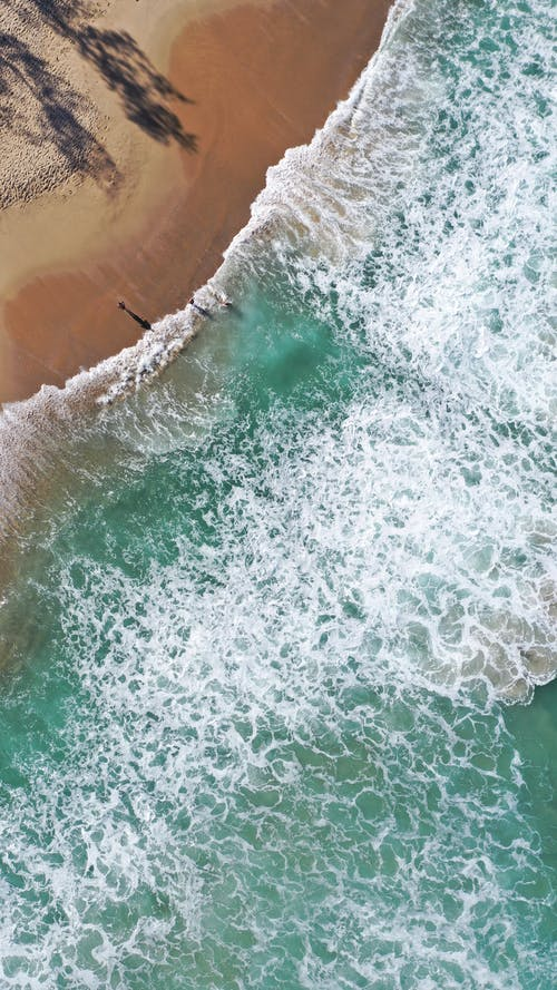 Photo of Sea Waves on Seashore