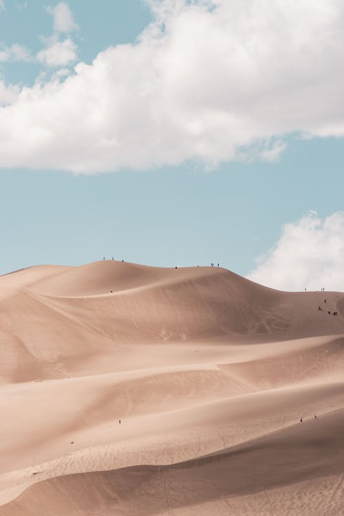 Photo of Desert Under White Clouds
