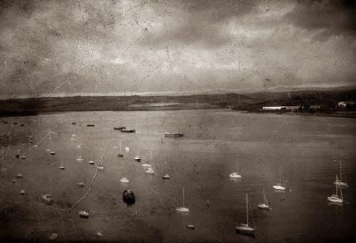 划痕, 單色, 帆船, 復古 的 免費圖庫相片