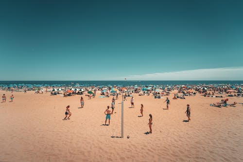 Free stock photo of beach, beach volleyball, day