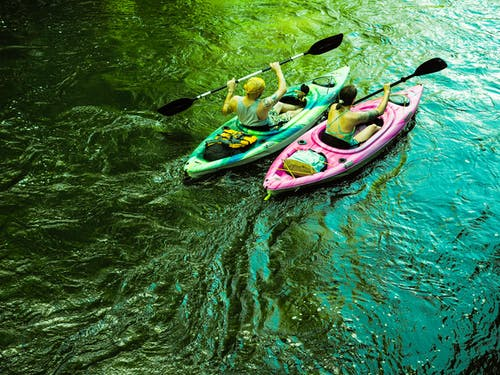 Free stock photo of canoeing