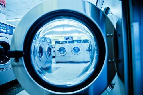 Grey Front Load Washing Machine