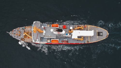 Top View Photo of Ship on Sea