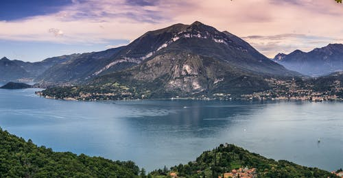 Free stock photo of clouds, lake, lake shore, mountains