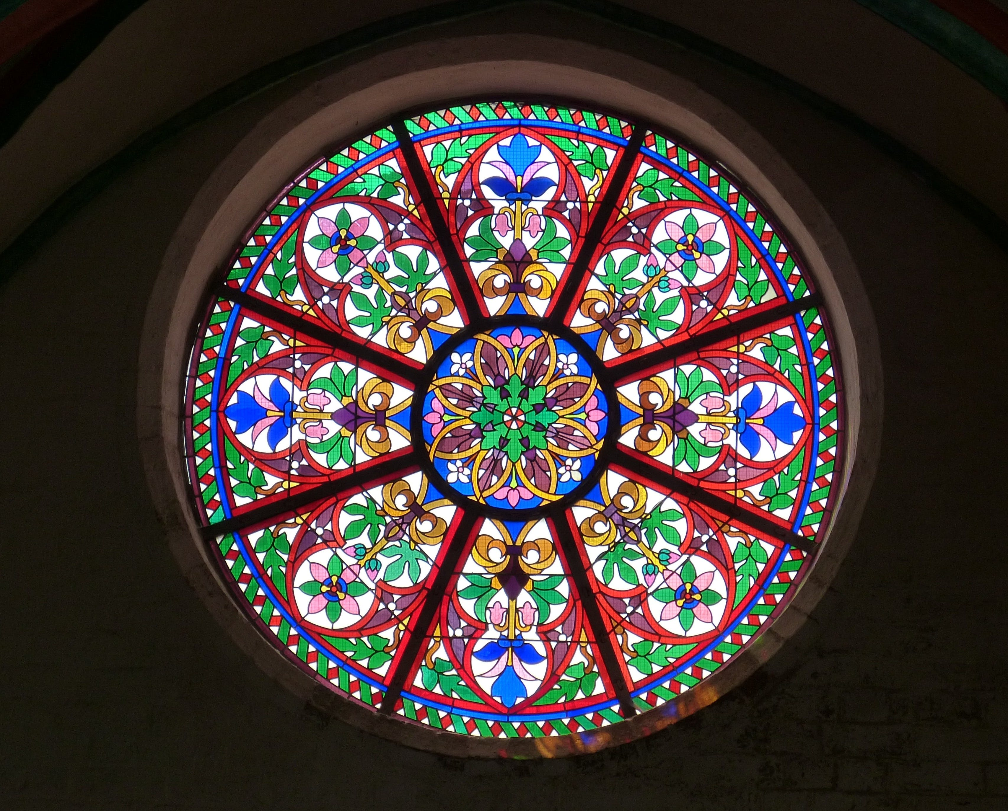 Round Stained Glass