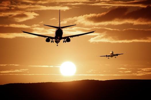 Kostenloses Stock Foto zu flug, dämmerung, himmel, sonnenuntergang