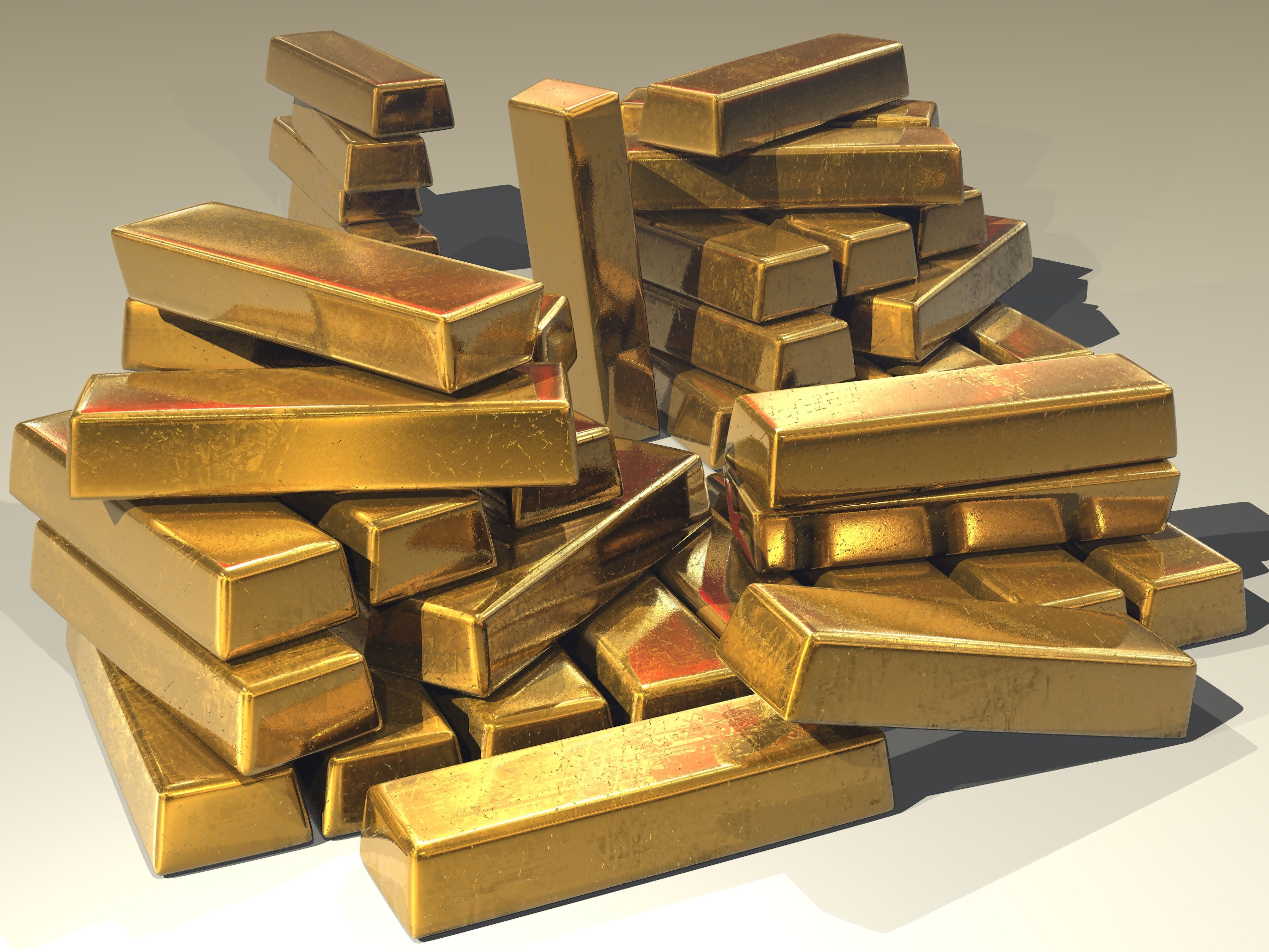 bullion, gold, gold bars