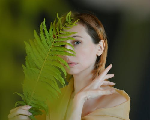 Photo of Woman Holding Fern Plant