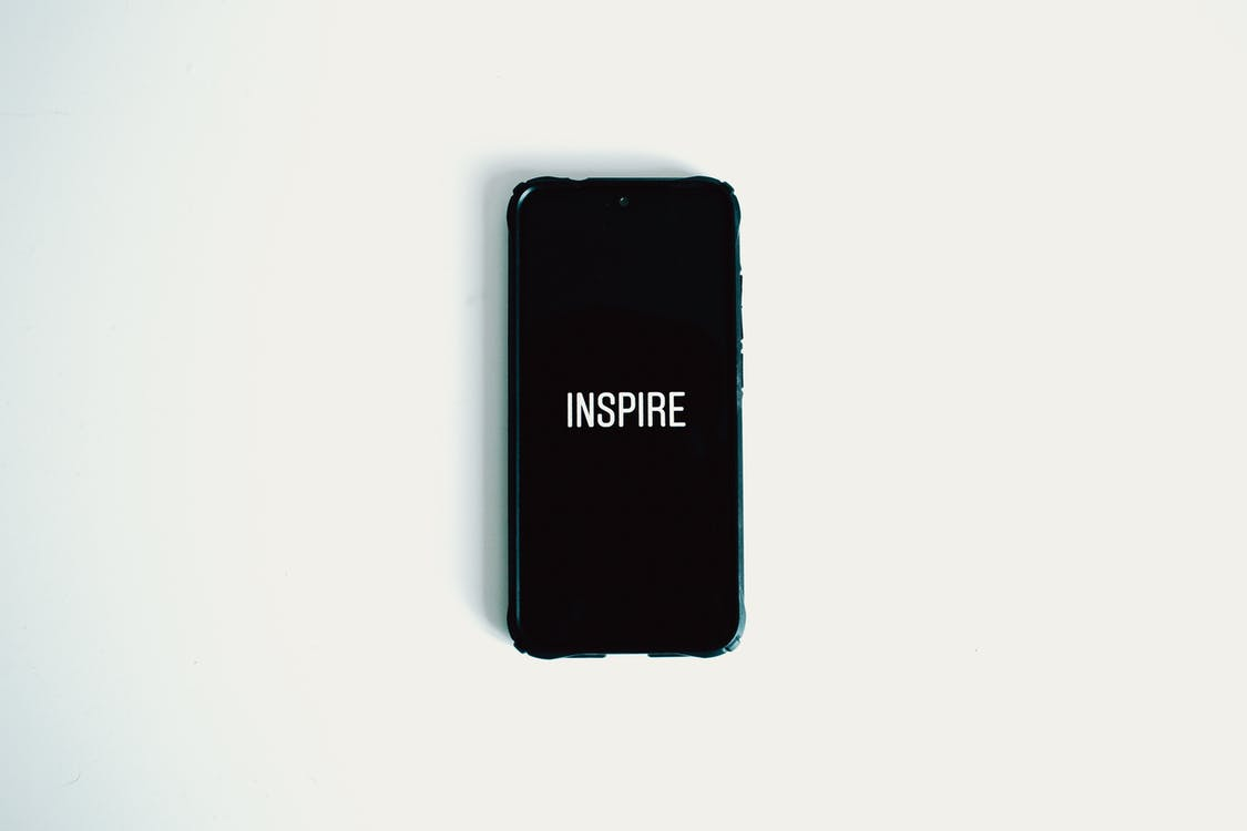 Photo of Black Smartphone Against White Background
