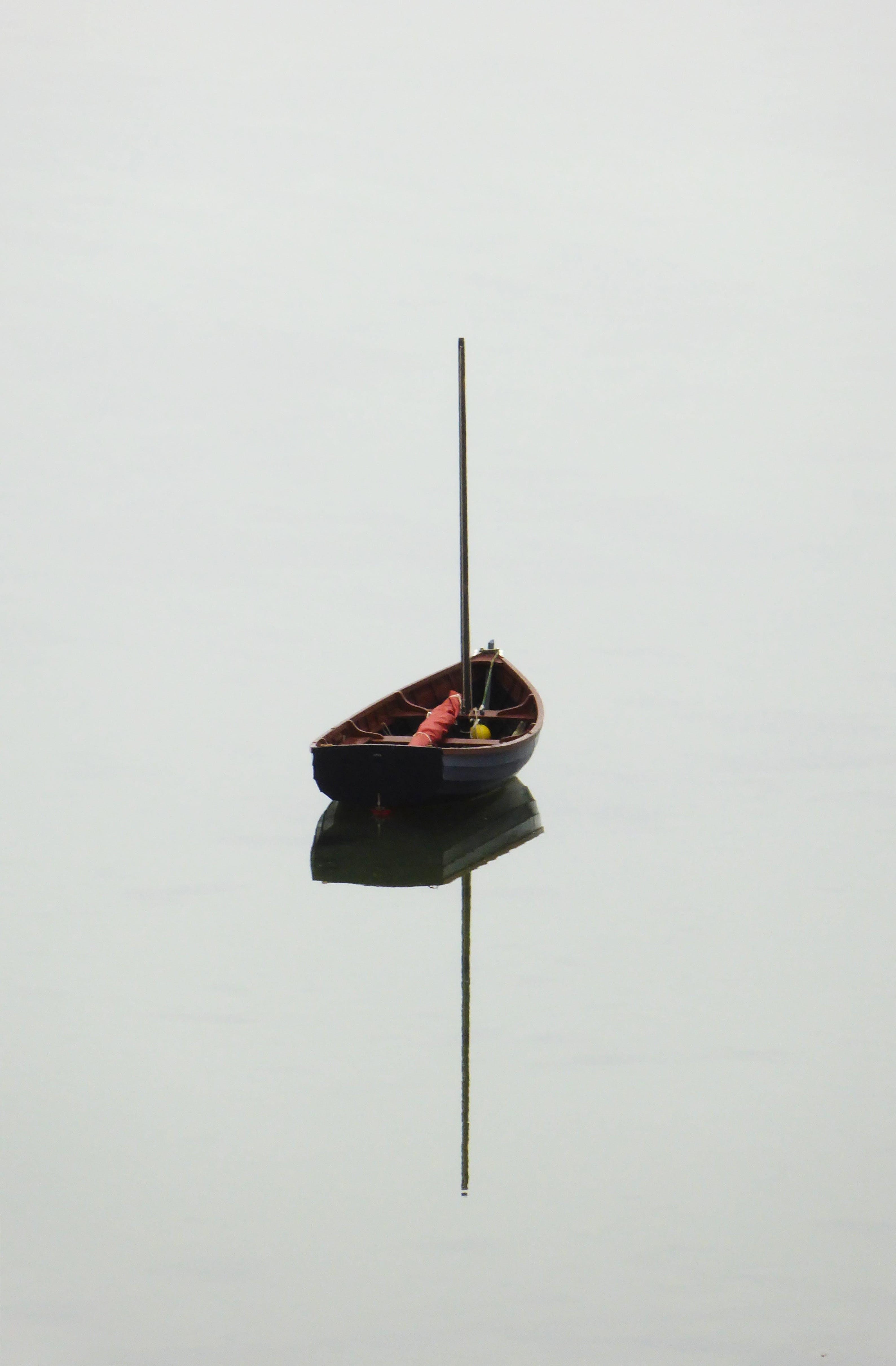 Black Wooden Boat