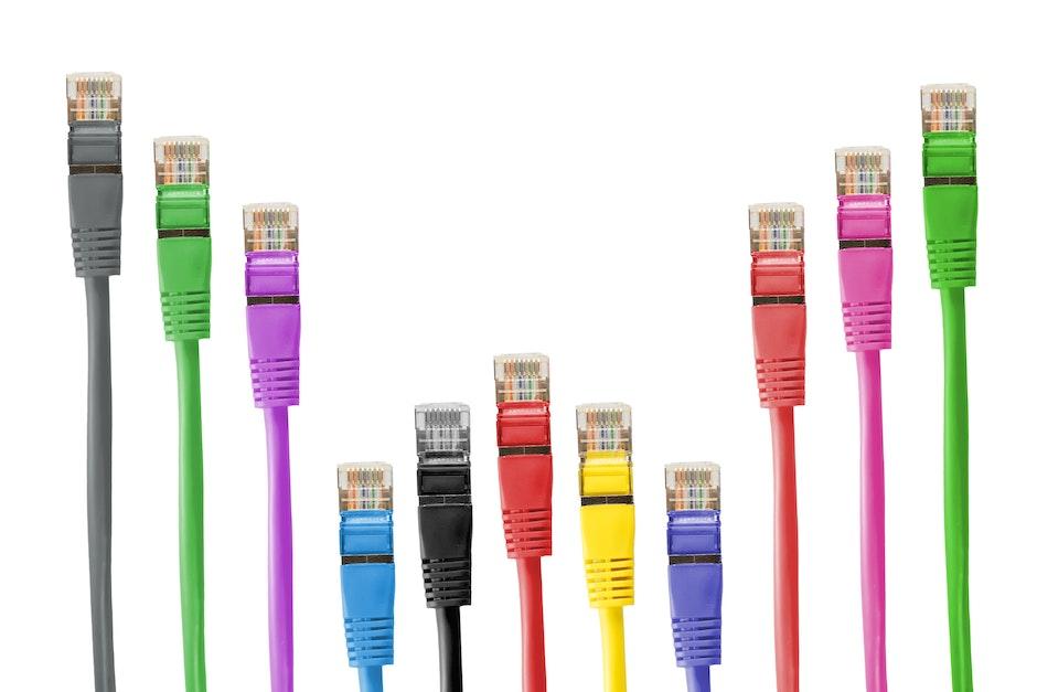 cable, cat-5e, colorful
