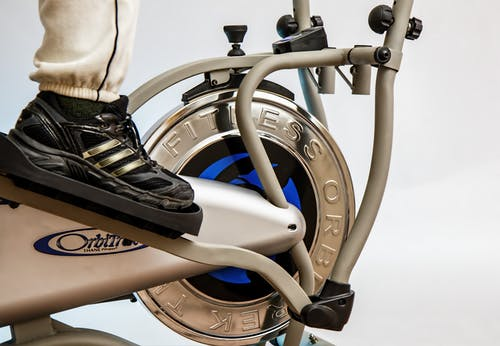 Person on Elliptical Trainer