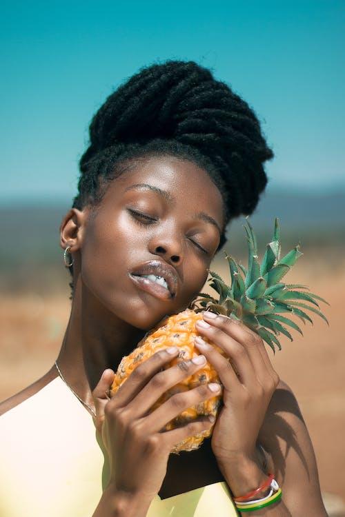 คลังภาพถ่ายฟรี ของ Adobe Photoshop, afria, dreadlock