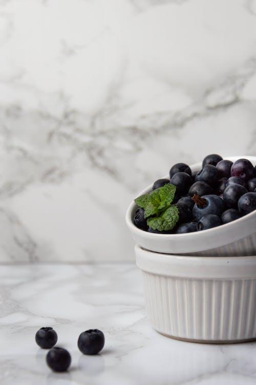 Blueberries on Ceramic Bowl