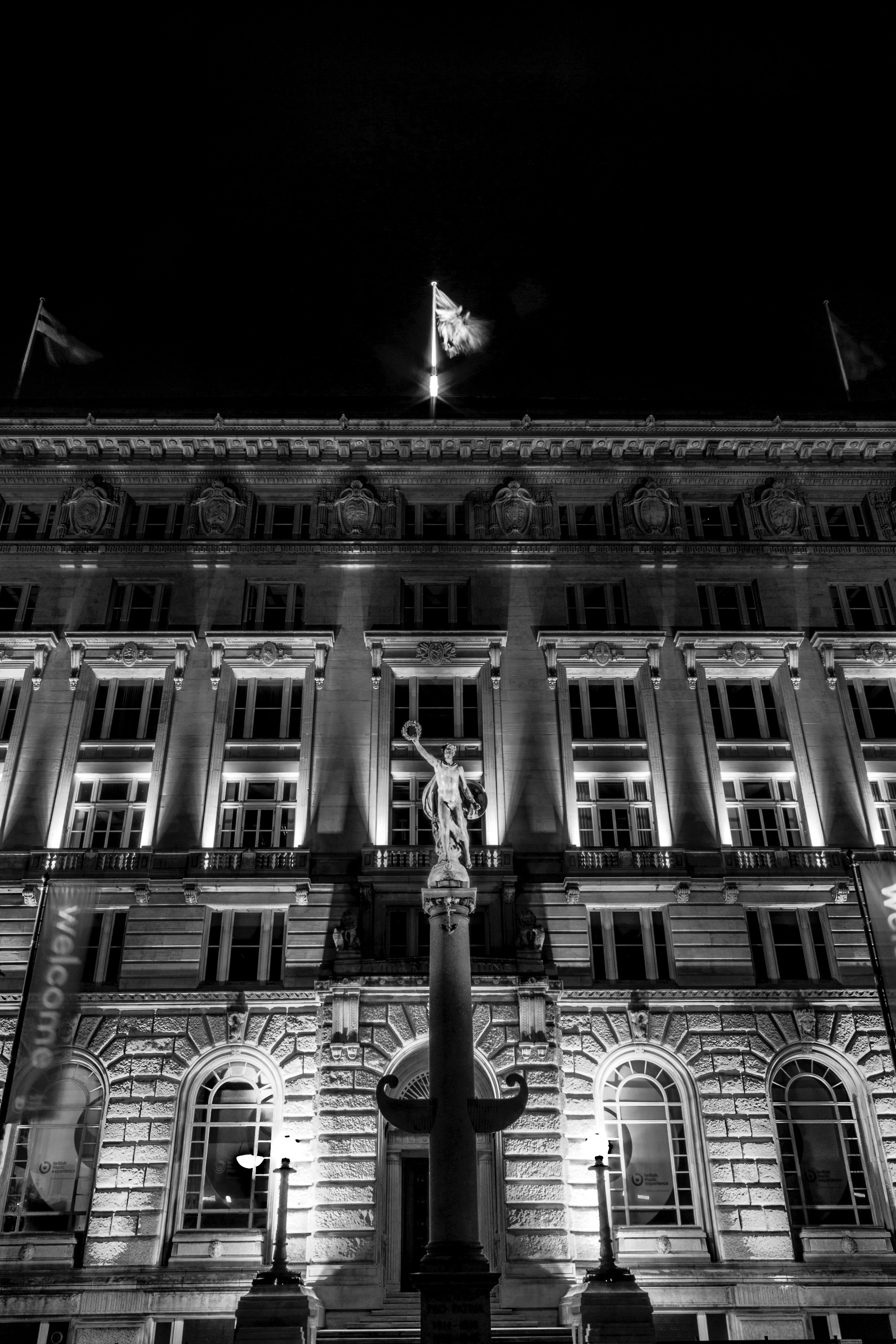 Free stock photo of black and white, Cunard Building, Liverpool