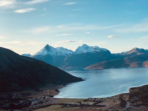 Free stock photo of blue mountains, fjell, fjord