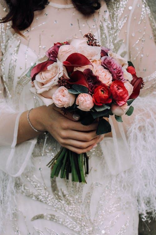Foto stok gratis aksesoris pernikahan, buket, buket bunga