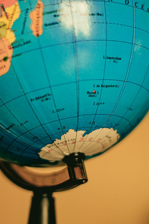 Globe Showing the South Pole