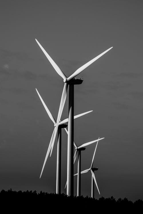 Kostenloses Stock Foto zu alternative energie, einfarbig, energieversorgung