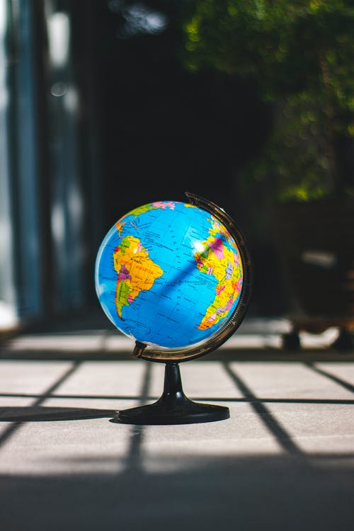 Desk Globe on Concrete Surface