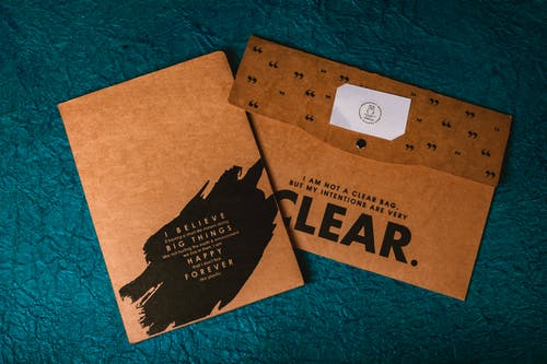 Brown and Black Cardboard Box