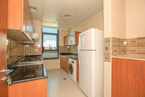 White Top Mount Refrigerator Beside White Top Mount Dishwasher