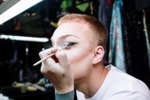 Drag Queen Applying Makeup