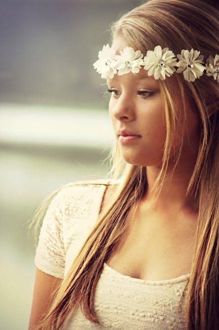 Woman Wearing Floral Headdress  Free Stock Photo-2280