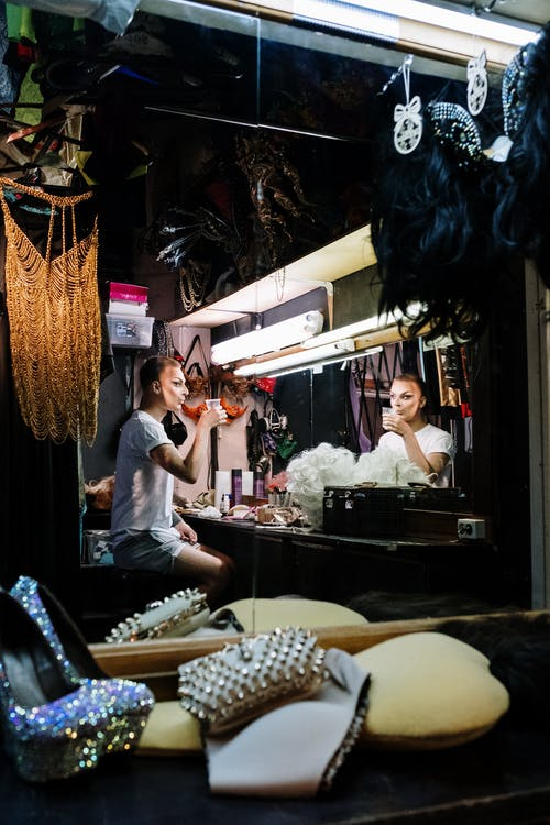 Drag Queen Getting Ready In a Dressing Room