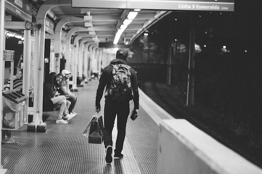 Free stock photo of black-and-white, people, public transportation, train station