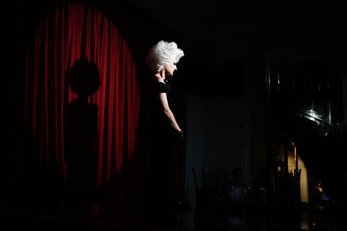 Drag Queen Standing on Stage
