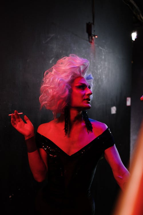 Drag Queen With a Cigarette