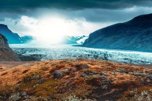 Darmowe zdjęcie z galerii z góra, islandia, islandzki, jezioro