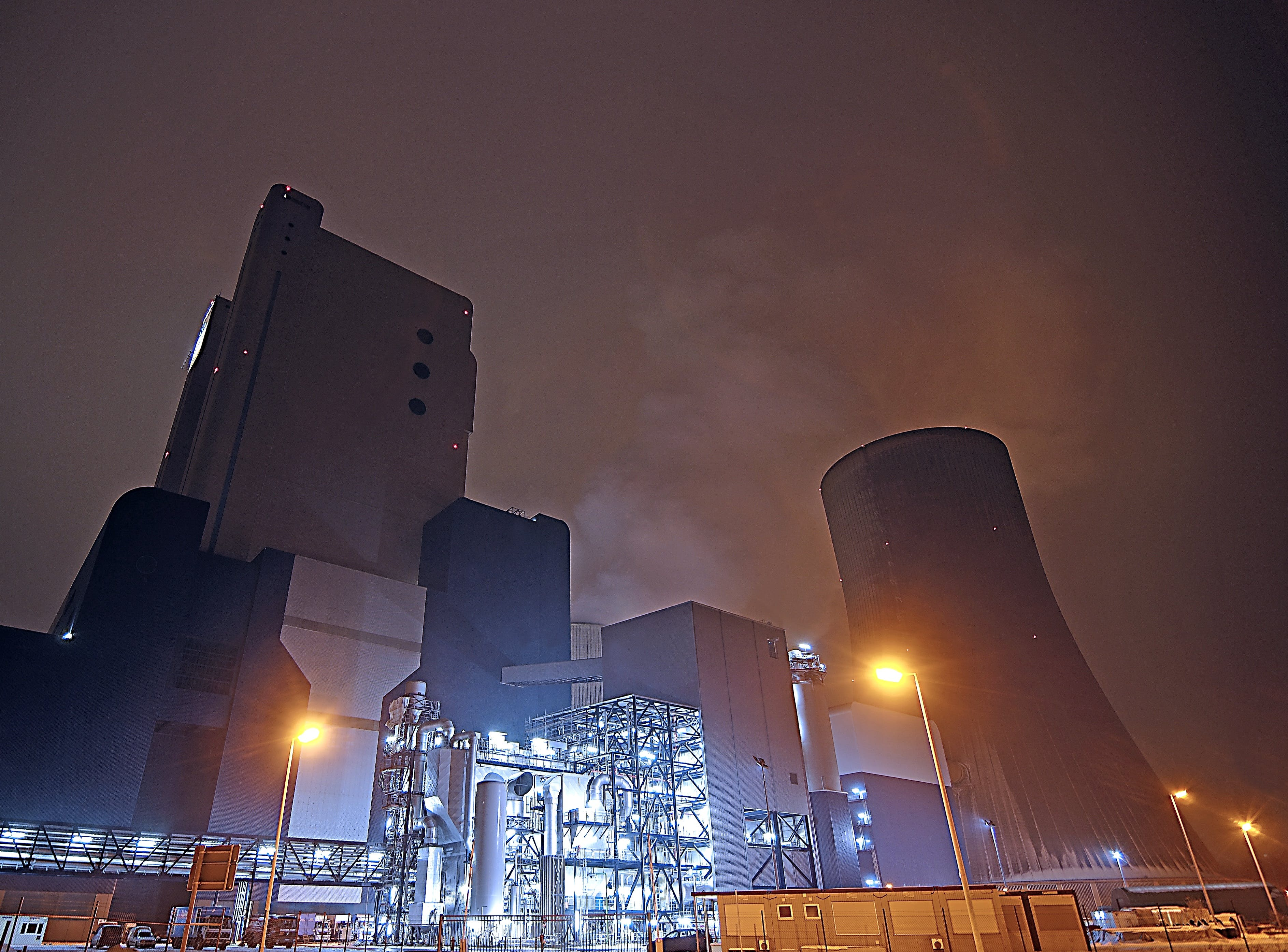 Factory at Nightime