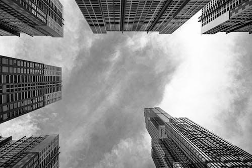 Ilmainen kuvapankkikuva tunnisteilla arkkitehtuuri, business, etsivät taivaalle, futuristinen