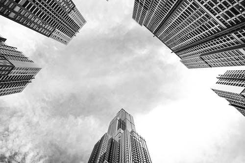 Ilmainen kuvapankkikuva tunnisteilla arkkitehtuuri, business, etsivät taivaalle, heijastus