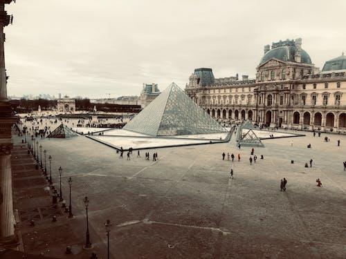 Louvre Musem under Gloomy Skies