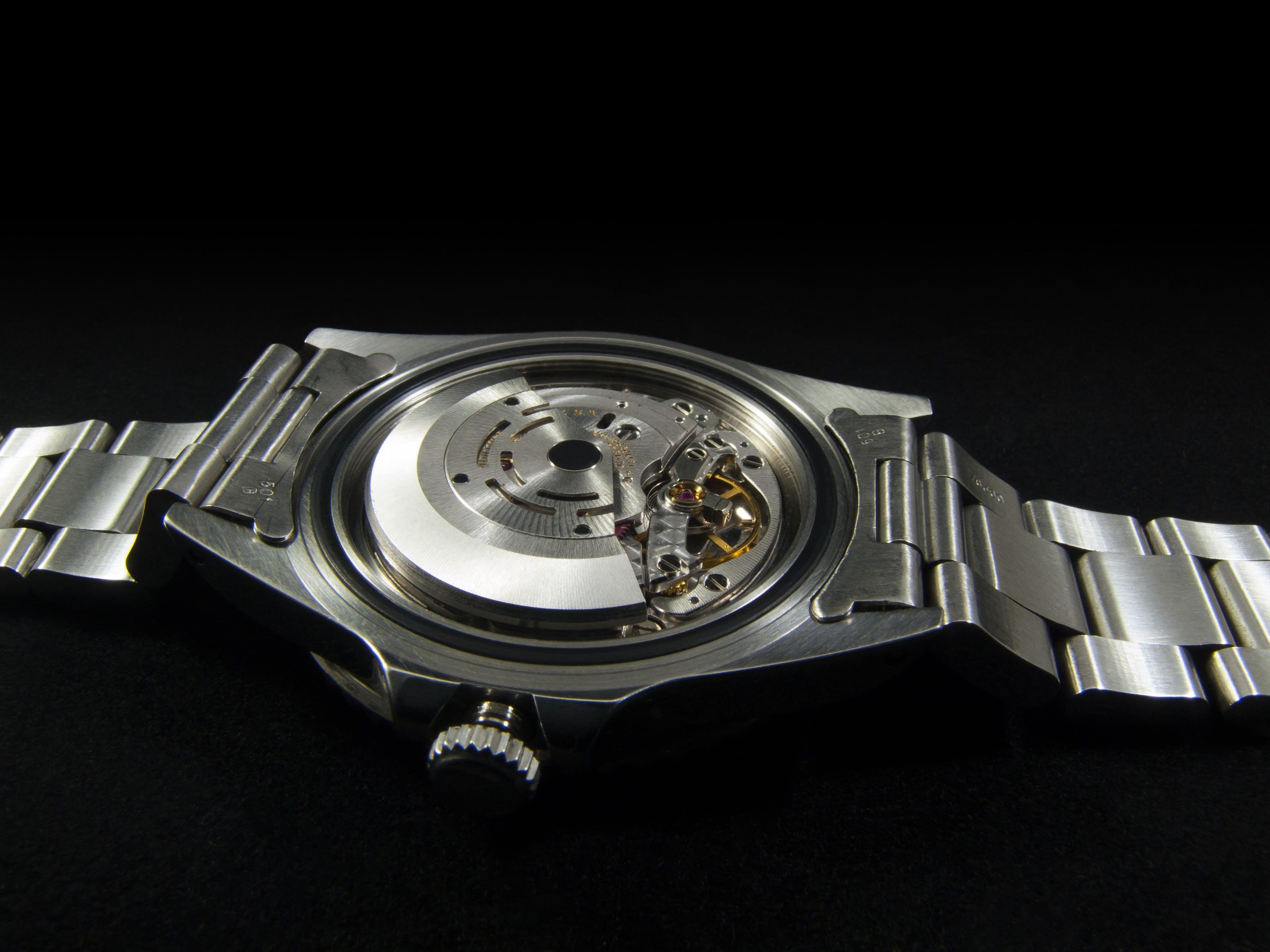 Silver Round Watch