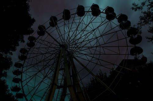 Free stock photo of attraction, dark, ferris wheel, Lviv