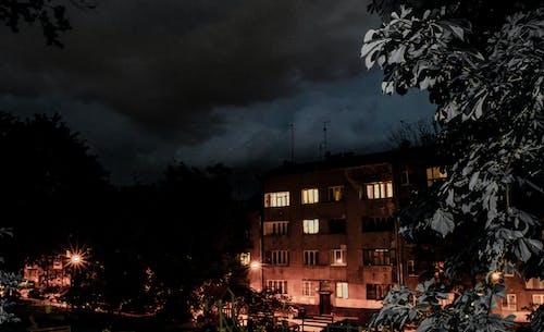 Free stock photo of dark, Lviv, night, windows