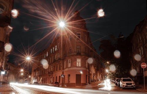 Free stock photo of architectrure, long exposure, Lviv, night