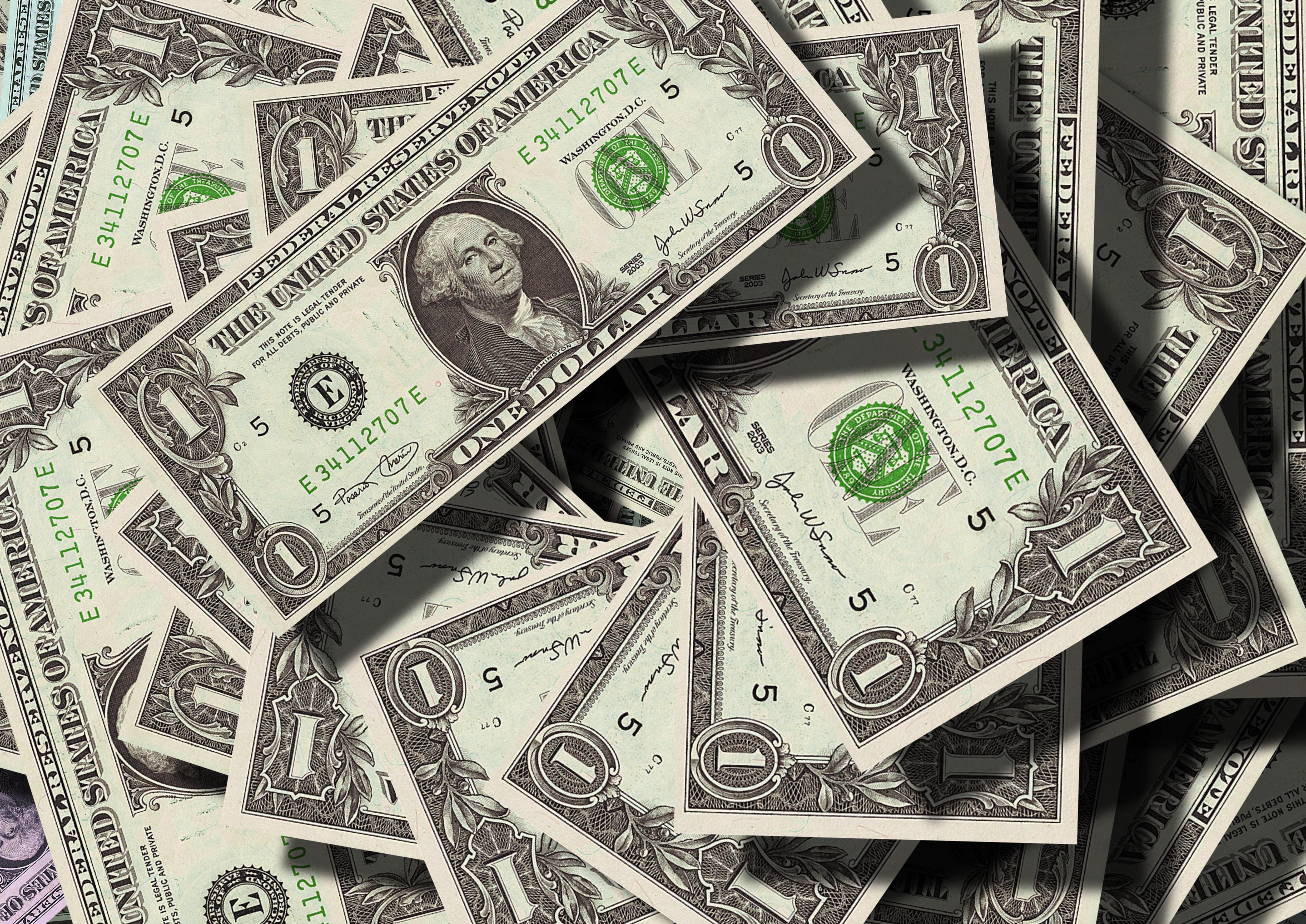 1ドル紙幣 お金 コレクションの無料の写真素材
