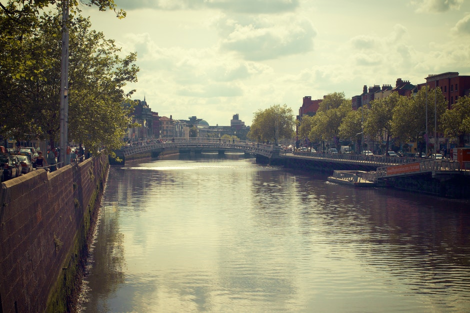 bridge, canal, city