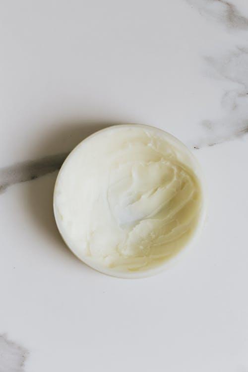 White Cream on Round Container