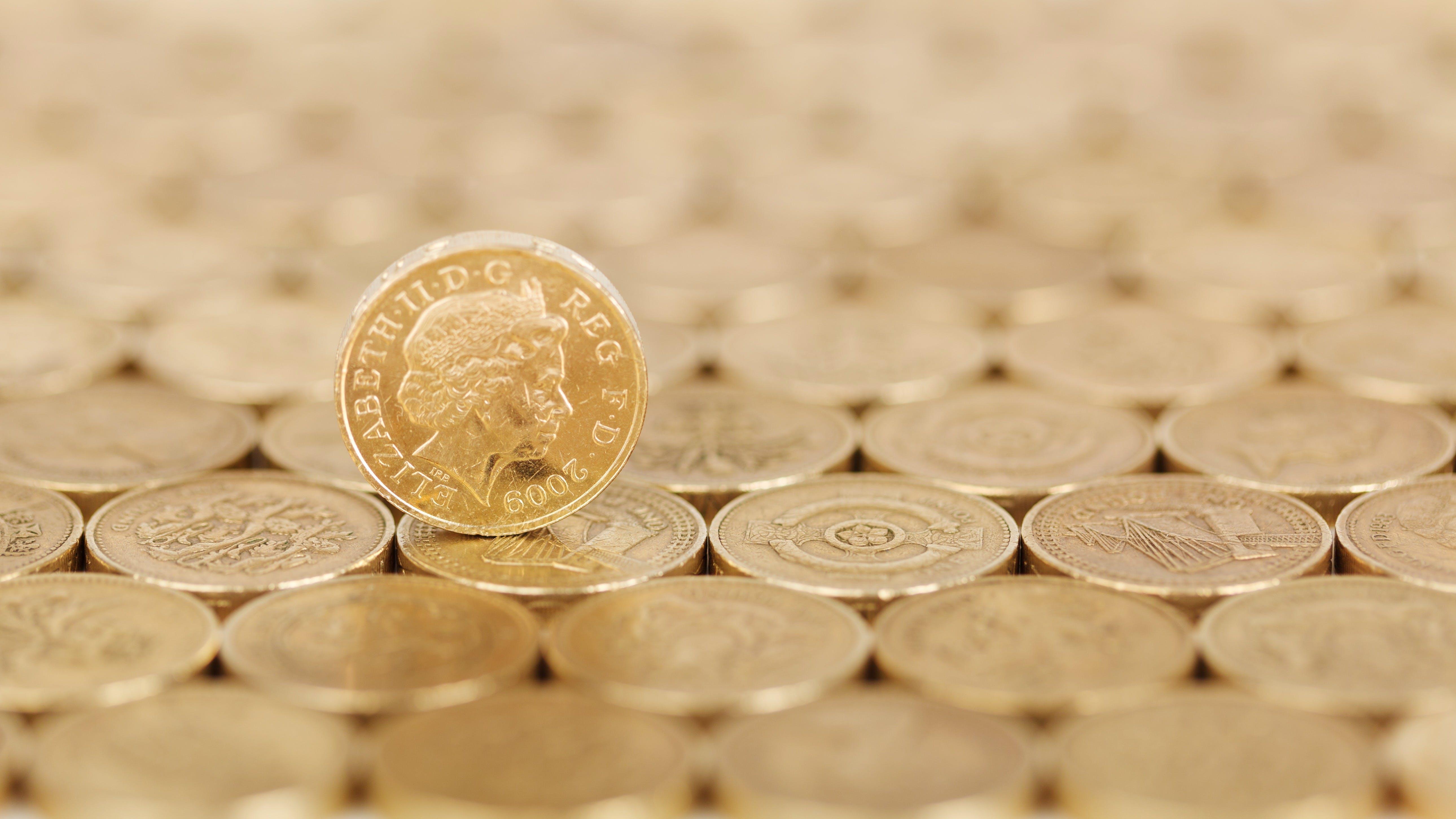Gold Round Coin