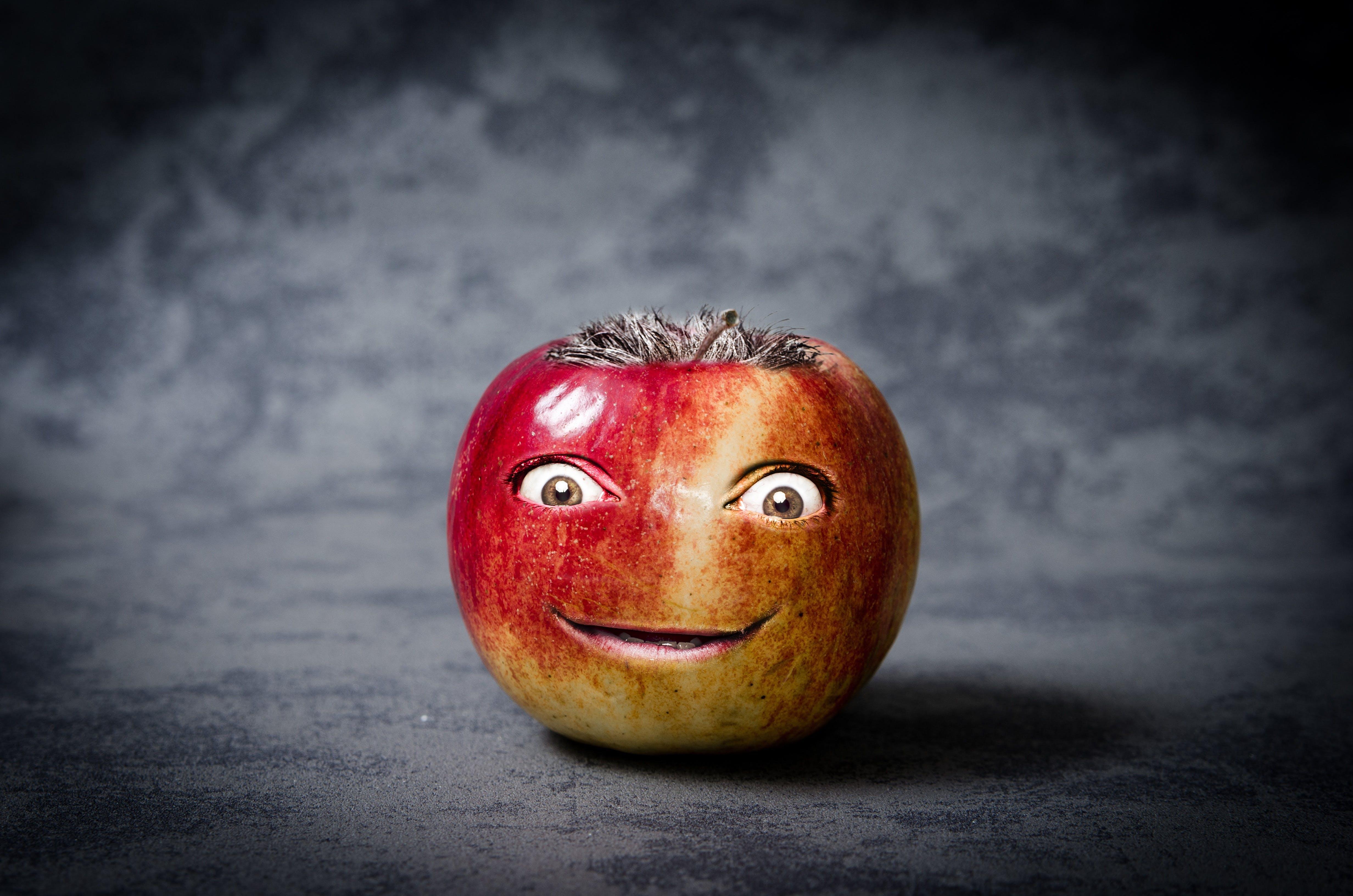Free stock photo of apple, cute, design, face