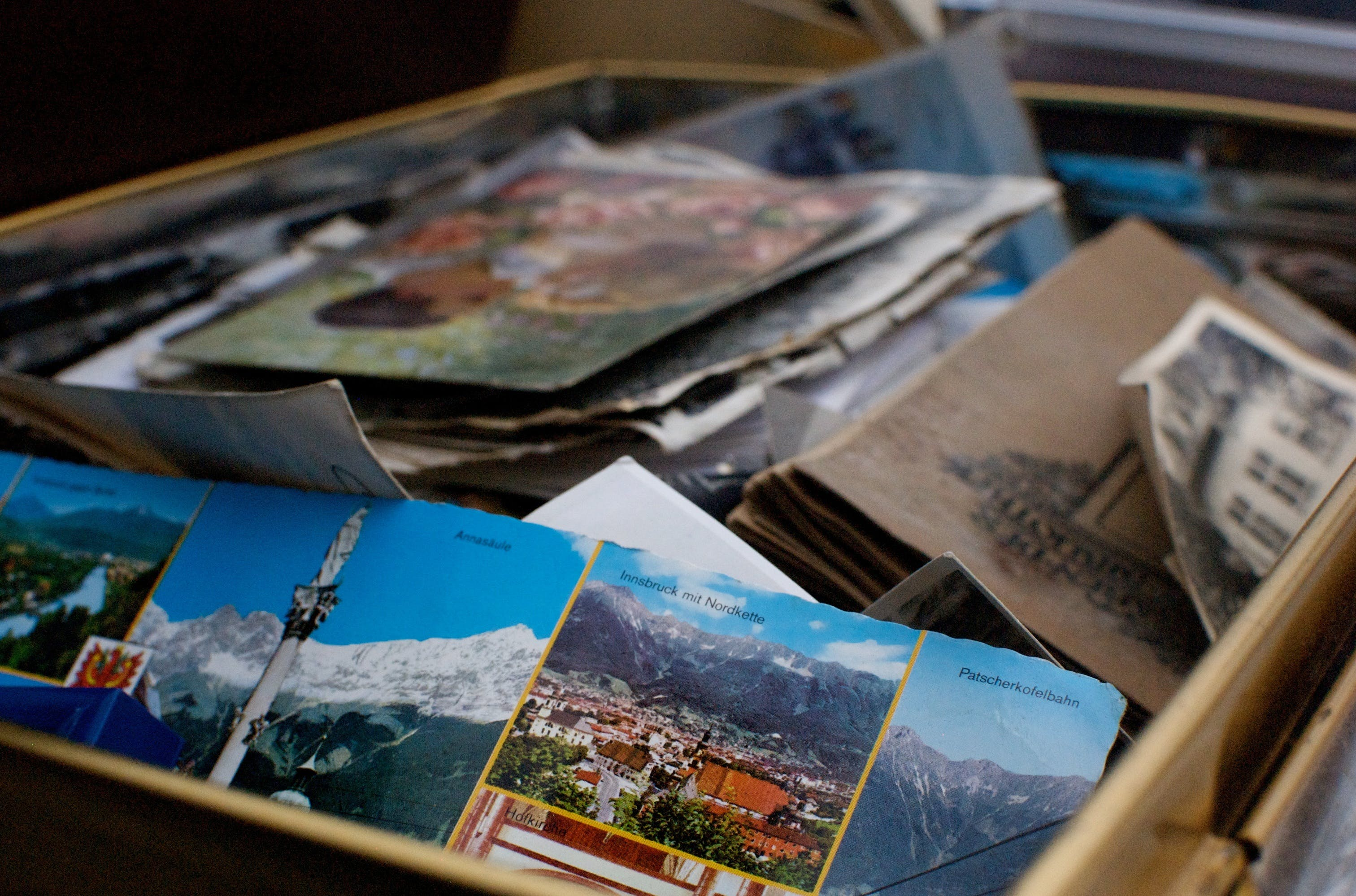 Free stock photo of books, box, keepsake, memories