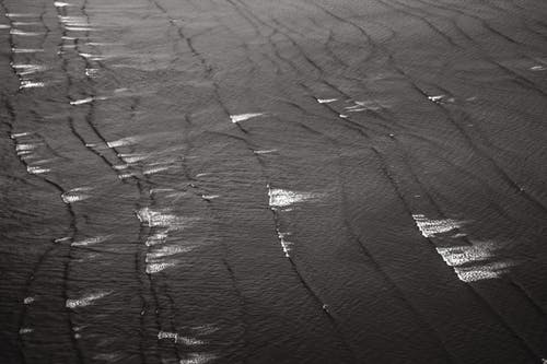 Grayscale Photo of Body of Water