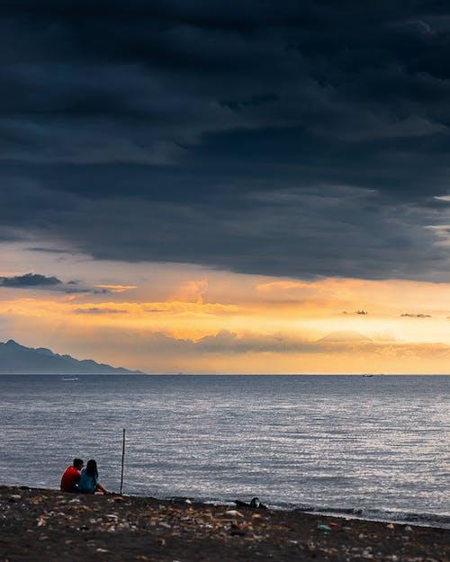 Бесплатное стоковое фото с буря, вечер, вода, закат